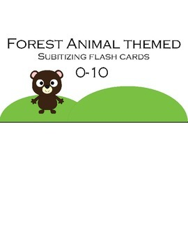 Subitizing Flashcards 0-10 (Forest Animal themed)