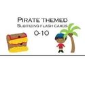 Subitizing Flashcards 0-10 (Pirate themed)