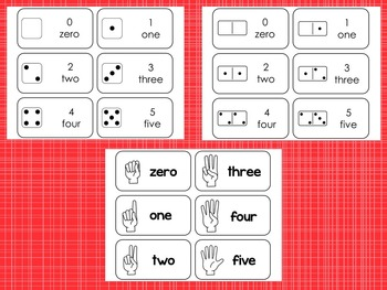 Subitizing Flashcard Set. 5 sets. 10 Frame, Finger Countin
