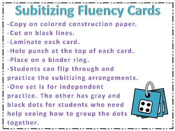 Subitizing Fluency Cards