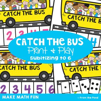 Subitizing Game {Catch the Bus} Kindergarten Math Center
