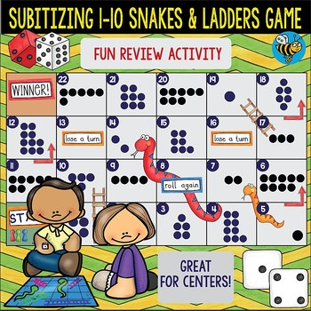 """Subitizing Game """"Snakes and Ladders"""""""