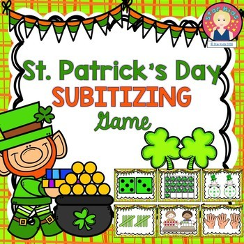 St. Patrick's Day Math Game - Subitizing
