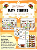 Subitizing Games - Fall Math Centers