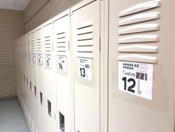 Subitizing Locker Tag Numbers 1-27