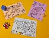 Subitizing Game for Kindergarten - Australian Animals