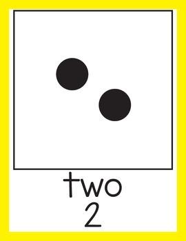 Subitizing Math Posters 0-20