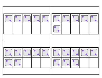 2's Subitizing Multiplication Flashcards