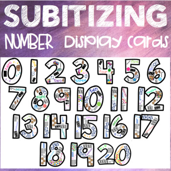 Subitizing Number Display Cards 0-20