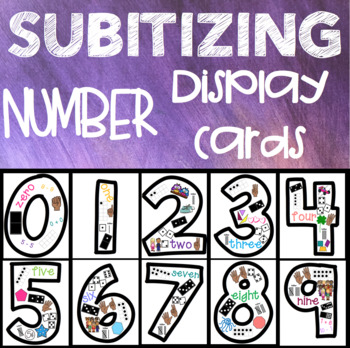 Subitizing Number Display Cards 0-9