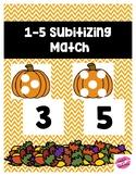 Fall Subitizing Number Match 1-5
