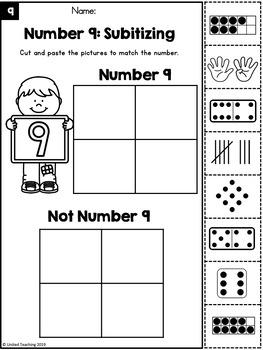 Subitizing Number Sense Clip Cards