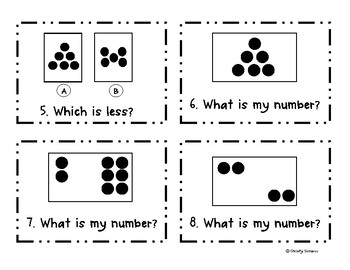 Subitizing | Number Sense Scoot Task Card Activity
