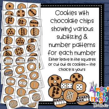 Subitizing Number Sense activity for 2-10 - Milk and Cookies theme