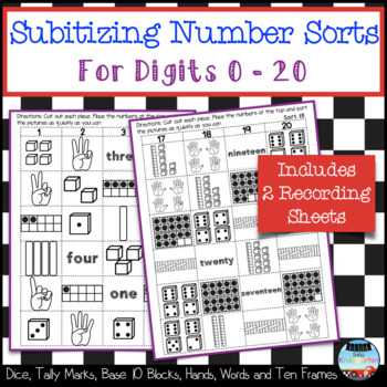 Subitizing Number Sorts