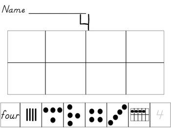 Subitizing Numbers 0-5 Worksheets