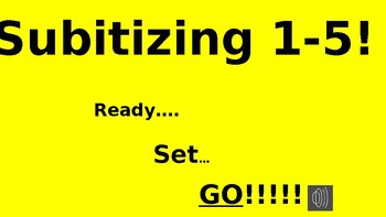 Subitizing Numbers 1-5