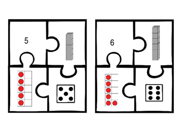 Subitizing Numbers Puzzles
