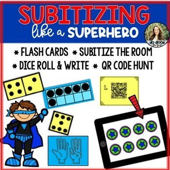 Subitizing Pack! {Recognize numbers with flash cards, QR C