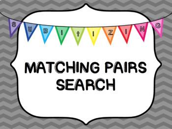 Subitizing Pairs Search