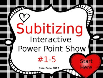 Subitizing Numbers 1-5 Interactive Power Point  FREEBIE!