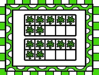 Subitizing Power Point  St. Patricks Day Themed