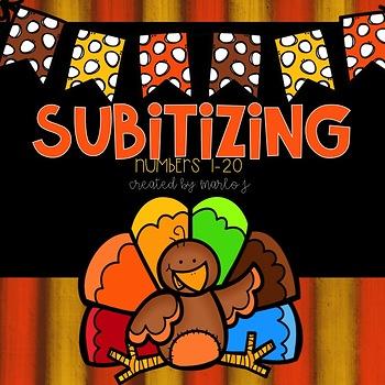 Subitizing Power Point  Thanksgiving
