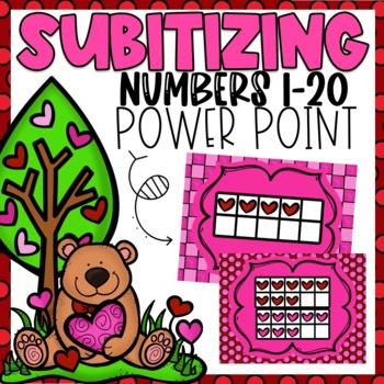 Subitizing Power Point Valentine Themed