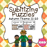 Subitizing Puzzles 11-20- Autumn Theme