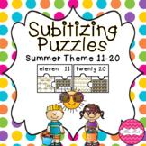 Subitizing Puzzles 11-20- Summer Theme