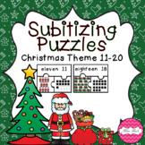 Subitizing Puzzles 11-20- Christmas Theme