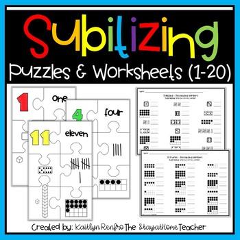 Number Sense Subitizing Puzzles and Worksheets