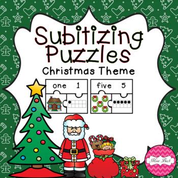 Subitizing Puzzles- Christmas Theme