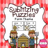 Subitizing Puzzles- Farm Theme