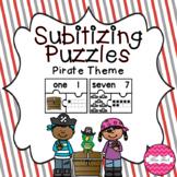 Subitizing Puzzles- Pirate Theme