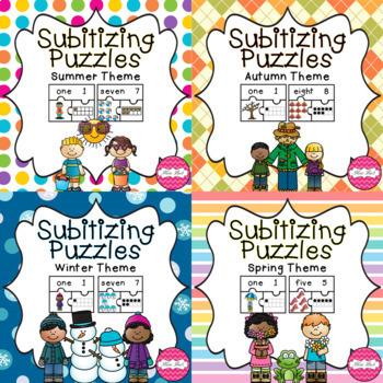 Subitizing Puzzles- Season Bundle