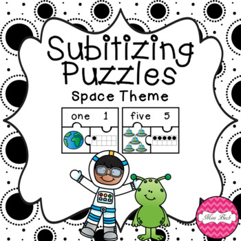 Subitizing Puzzles- Space Theme