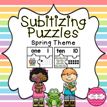 Subitizing Puzzles- Spring Theme