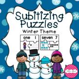 Subitizing Puzzles 1-10 - Winter Theme