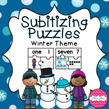Subitizing Puzzles- Winter Theme