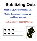 Can Your Students Subitize? Subitizing Formative Assessment-Power Point