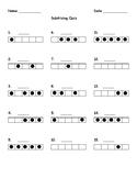 Subitizing Quiz with dots 0-5