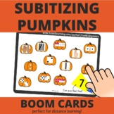 Subitizing Search: Pumpkins BOOM Cards (distance learning)