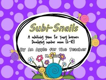 Subitizing Snails 6-10
