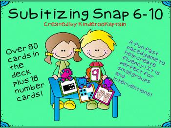 Subitizing Snap 6-10 Dinosaurs
