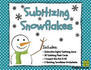 Subitizing Snowflakes - Interactive Digital Activity (iPad / Tablet / PC)