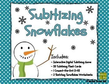 Subitizing Snowflakes - Interactive Digital Activity (iPad
