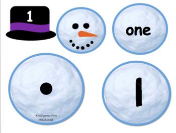 Subitizing Winter Snowmen