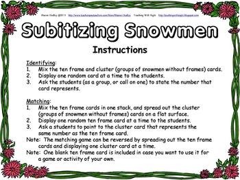 Subitizing Snowmen