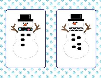 Subitizing Snowmen Flash Cards